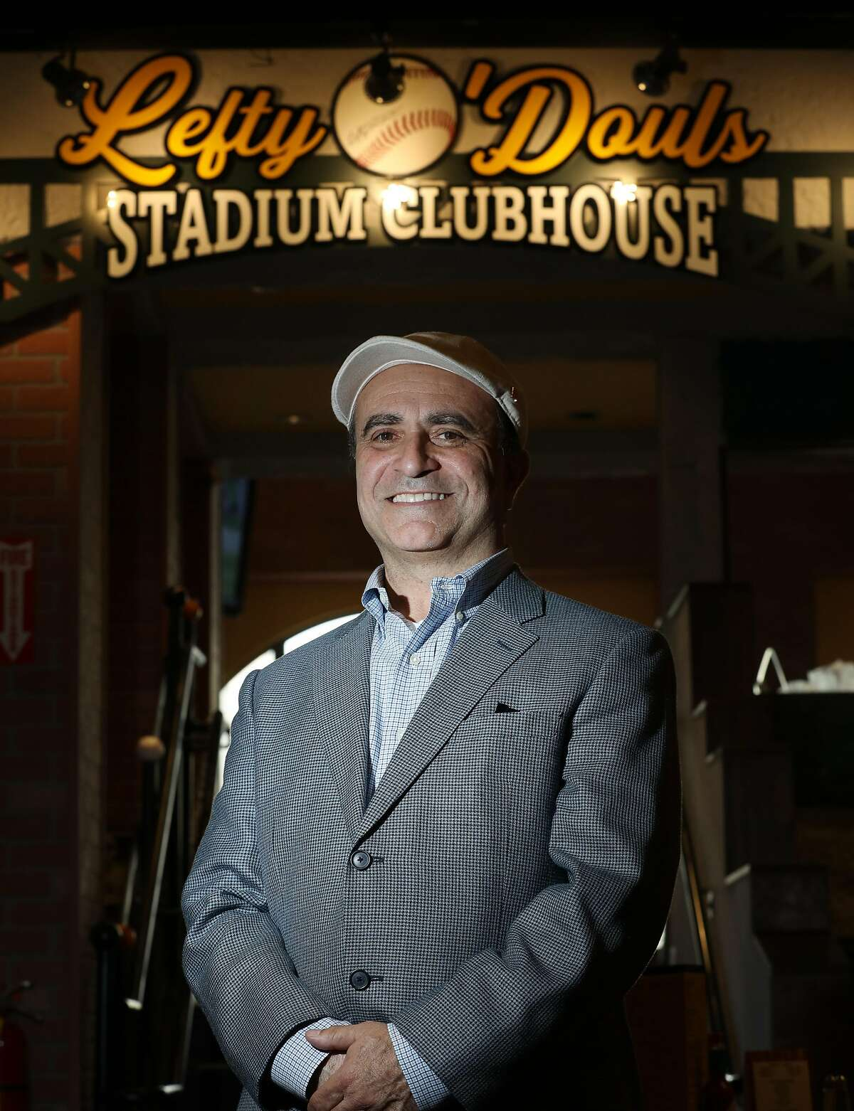 Nick Bovis, owner Lefty's Ballpark Buffet and Cafe, , stands for a portrait at Lefty's Ballpark Buffet and Cafe on Friday, November 16, 2018 in San Francisco, Calif.