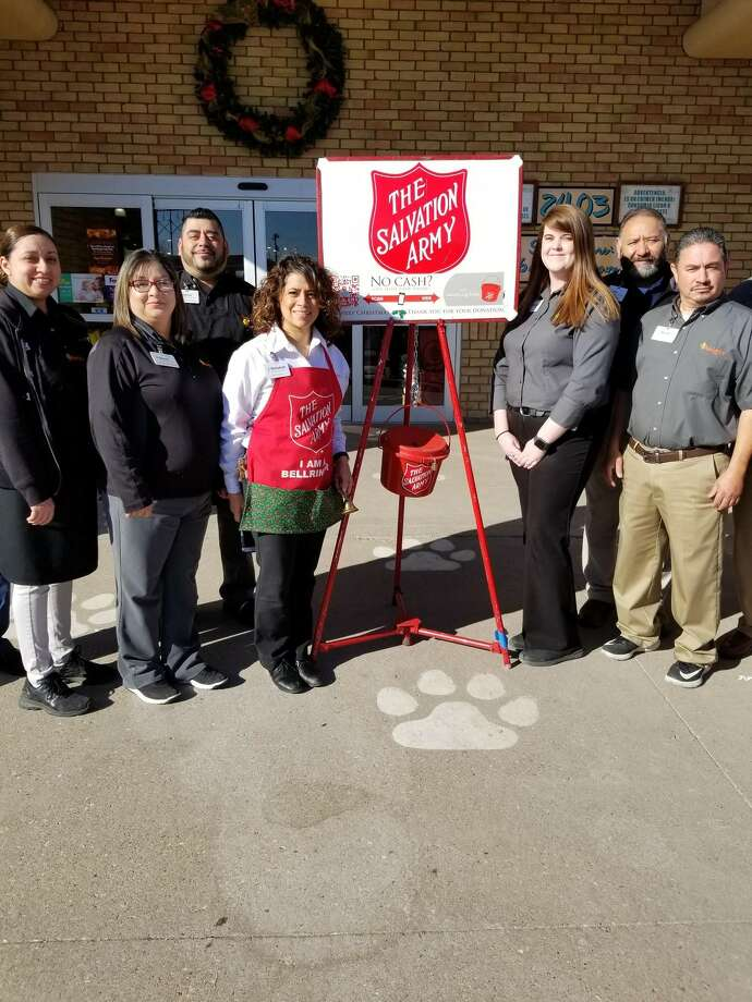 The Salvation Army kicked off its Red Kettle Fundraiser Friday at Amigos. Photo: Courtesy Photo