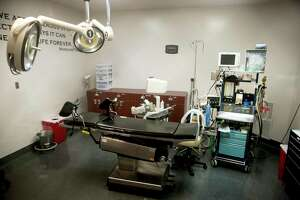 The operating room at Whole Woman's Health, the lead plaintiff in a challenge to a Texas law which would require the burial or cremation of fetal and emybronic remains, in San Antonio, Feb. 24, 2016. A federal judge struck down the law as unconstitutional in September. The state of Texas is appealing that decision to the 5th U.S. Circuit Court of Appeals. (Ilana Panich-Linsman/The New York Times)