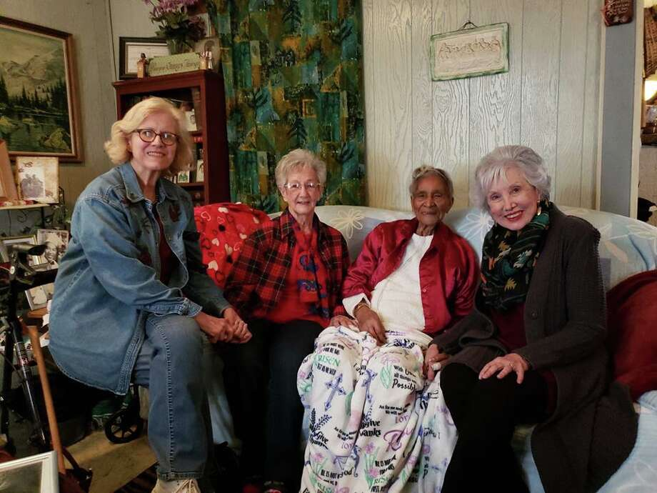 A group of First United Methodist Church Plainview members hope to collect information and artifacts related to the church to preserve its history. The group recently visited a local centenarian as a part of those efforts. Photo: Ellysa Harris/Plainview Herald