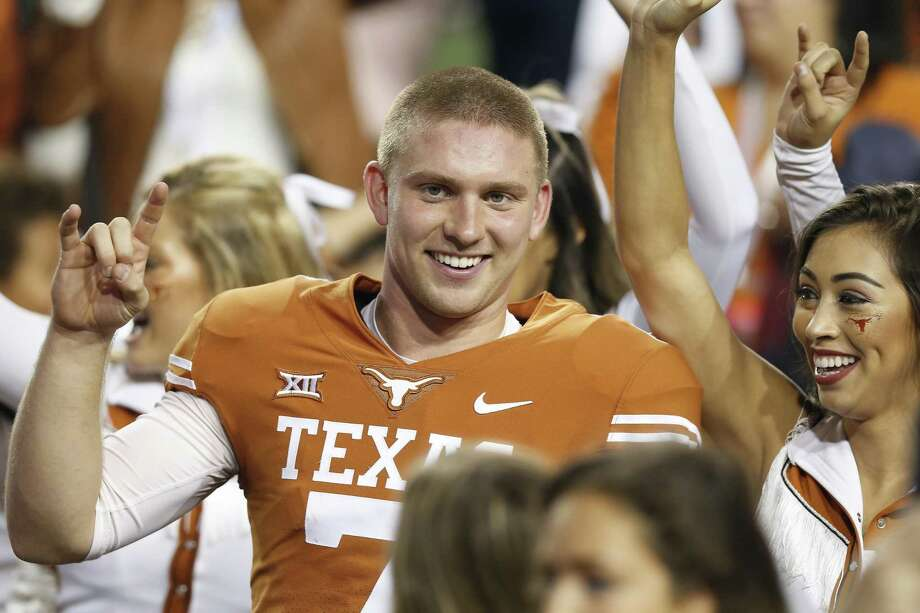 Quarterback Shane Buechele could get the last laugh if he gets the start against Kansas on Saturday and avenges Texas' 2016 loss at Lawrence, Kan. Photo: Tim Warner /Getty Images / 2018 Getty Images
