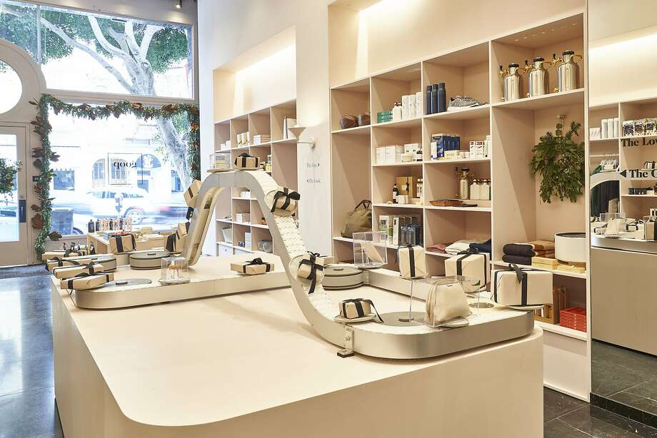 Filled with a range of Gwyneth Paltrow-approved goodies -- clothing and beauty to home and tech -- the one-stop Goop Gift shop brings the L.A. lifestyle brand's annual holiday gift guide to life at 2241 Fillmore St., S.F. Photo: Adrian Gaut