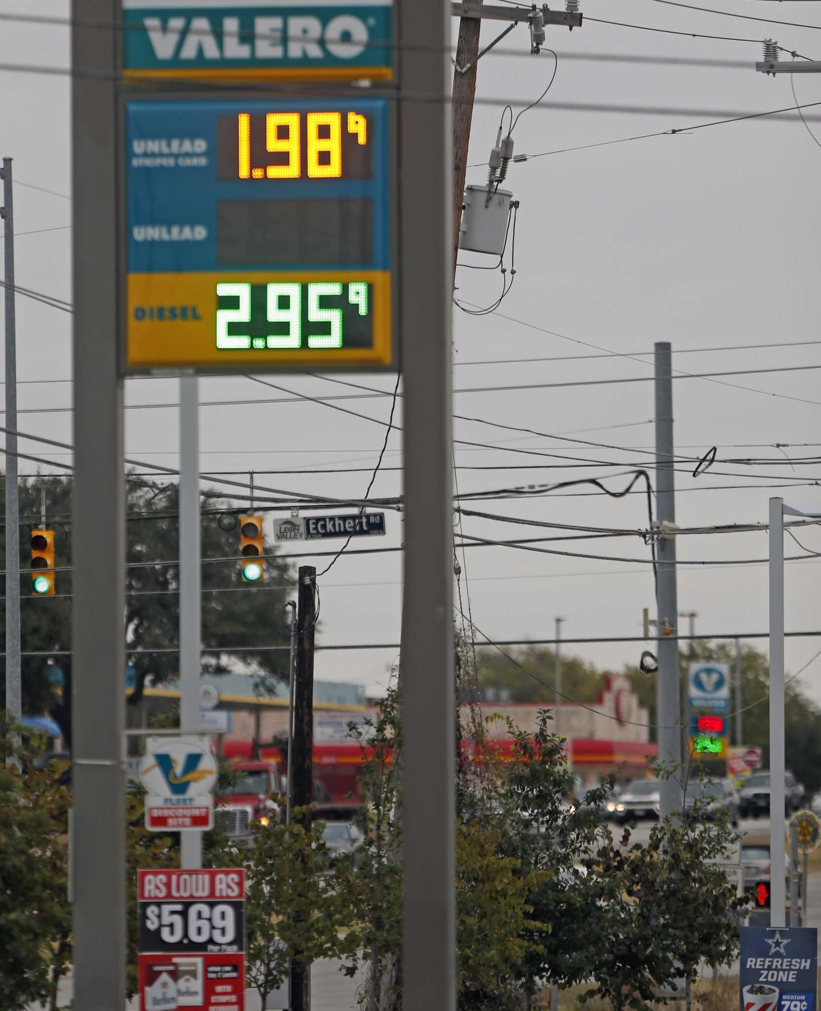 San Antonio Gas Prices >> San Antonio Gas Prices Dip Below 2 San Antonio Express News