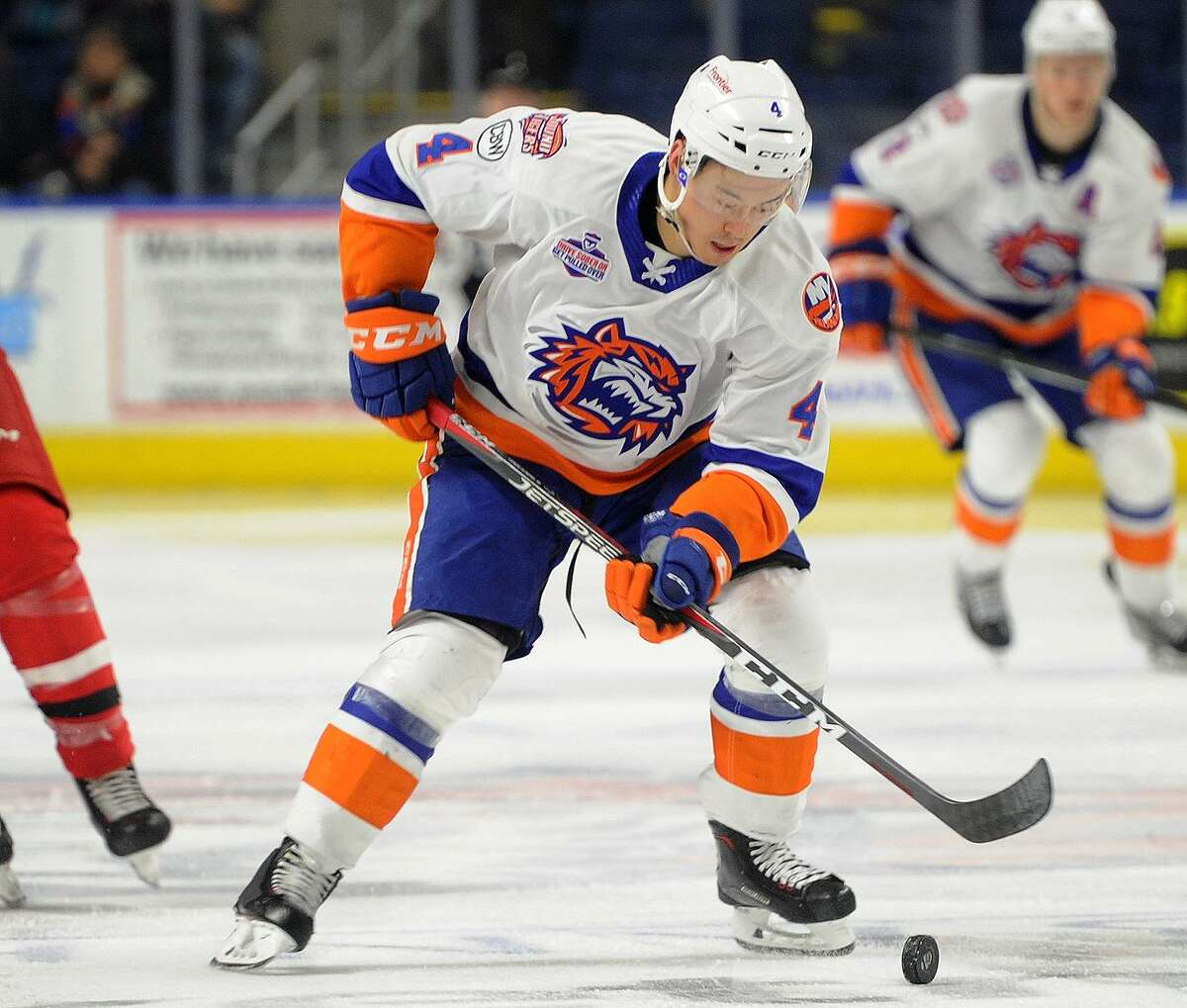Mitch Vande Sompel of the Sound Tigers is trying to keep up his intensity and playing well in all phases of the game.