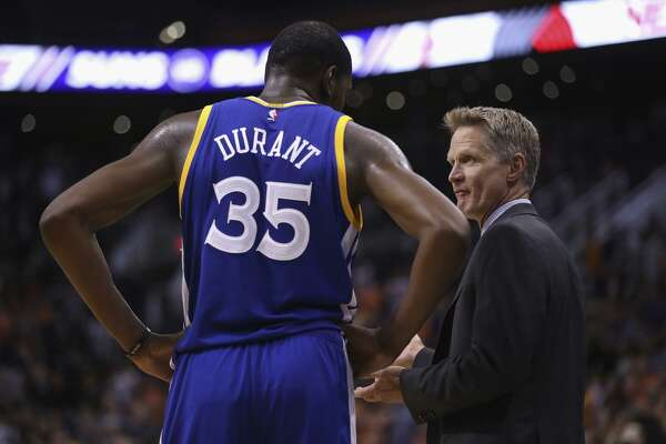 new style f4540 1455e 3of16Warriors head coach Steve Kerr says he has talked with both Kevin  Durant and Draymond Green after the two star players' verbal dispute  threatened to ...