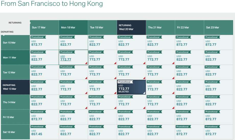 We found plenty of availability in March for Cathay's premium economy sale for $773 roundtrip Photo: Cathay Pacific