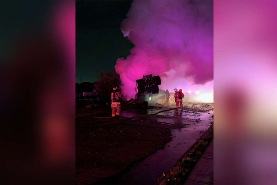 A person is dead after a fiery big rig crash Monday in northwest Harris County