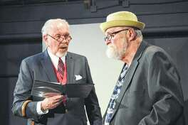 "Rich McCoy (left) and Ken Bradbury rehearse a scene in May at Playhouse on the Square. The two starred in a staged reading of the Neil Simon play ""The Sunshine Boys."""