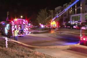 An apartment building caught fire on Branford in Sugar Land on Monday, Nov. 19, 2018.