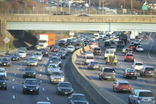 Traffic builds on Interstate 95 looking north to exit 16 through Norwalk Conn. on Tuesday November 21, 2017 as the Thanksgiving holiday weekend approaches. The 2018 Thanksgiving holiday will have the highest volume of travelers in a dozen years, according to AAA Northeast. The estimated 54.3 million people who will be traveling by vehicles, trains and planes is nearly 5 percent more than last year. Because 89 percent will be traveling by vehicle, expect roads like I-95, I-91, I-84 and the Merritt and Wilbur Cross parkways to be jammed with traffic.