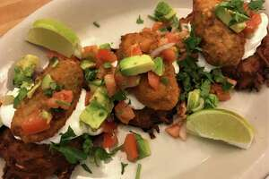 Kenny & Ziggy's New York Delicatessen restaurants will offer Enchilatkes during Hanukkah 2018. The Tex-Mex dish is made with potato latkes topped with cheese-stuffed jalapenos, sour cream and pico de gallo.