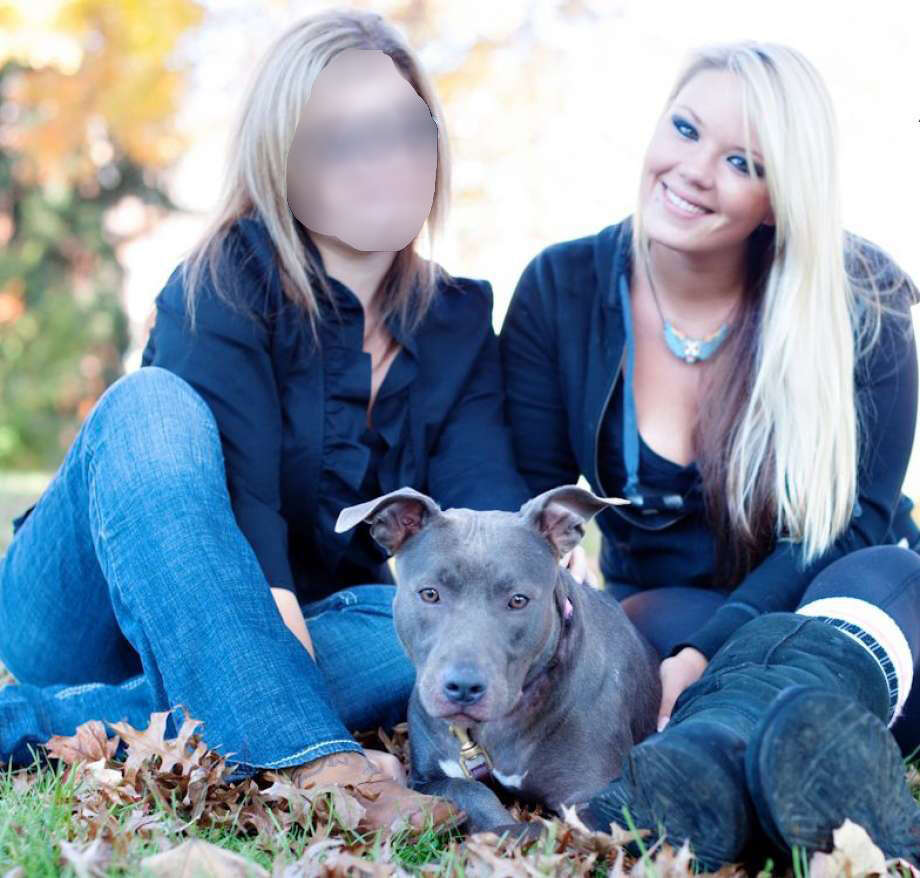 "Bully Breed Rescue President Heidi Lueders (right) is shown here in this 2013 file photo. On Wednesday, Fairfield Animal Control and police found ""canine remains"" at a home on Prince Street where Lueders reportedly lives. Photo: Contributed"
