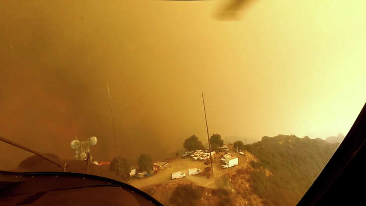 This video was recorded Nov. 9 as LAFD Air Operations pilots David Nordquist and Joel Smith battled the Woolsey Fire, which was raging through the Santa Monica Mountains toward Malibu.
