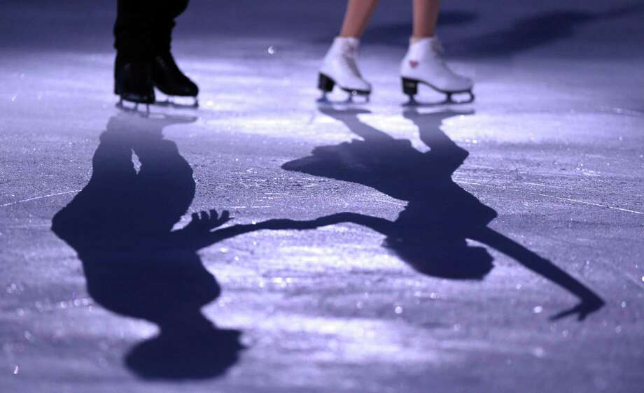 Middletown's synthetic ice-skating rink, built last year, will be open to the public beginning Saturday and continuing through March. Photo: File Photo / AFP