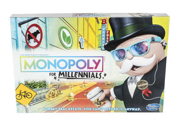 """""""Forget real estate. You can't afford it anyway,"""" reads the tagline of Hasbro's latest game, Monopoly for Millennials."""
