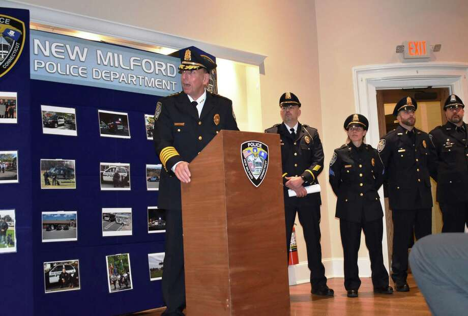 Spencer Cerruto was sworn in as the new police chief in New Milford on Nov. 14. Photo: Contributed Photo / The News-Times Contributed