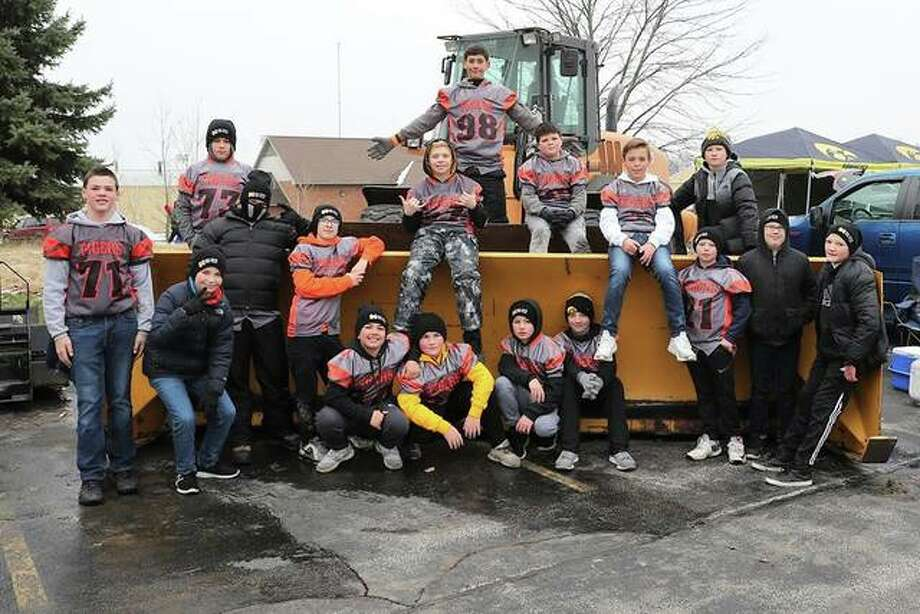 Twenty players from the Little Tigers Football organization made the trip Saturday to the Illinois-Iowa football game. The players were able to watch LTF alum and Edwardsville High School graduate AJ Epenesa play defensive end for the Iowa Hawkeyes. Prior to the game, the players were able to watch pregame warmups from the field. Photo: Rick Brewer/For The Intelligencer