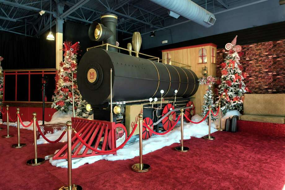 In between living out the 12 Days of Christmas, visitors can visit Santa Claus to get pictures or give him their wish lists until Christmas Eve. Like every year before, a team of artists built the themed Santa set from scratch — this year's theme is the North Pole. Photo: Courtesy Of Trademark Property Company