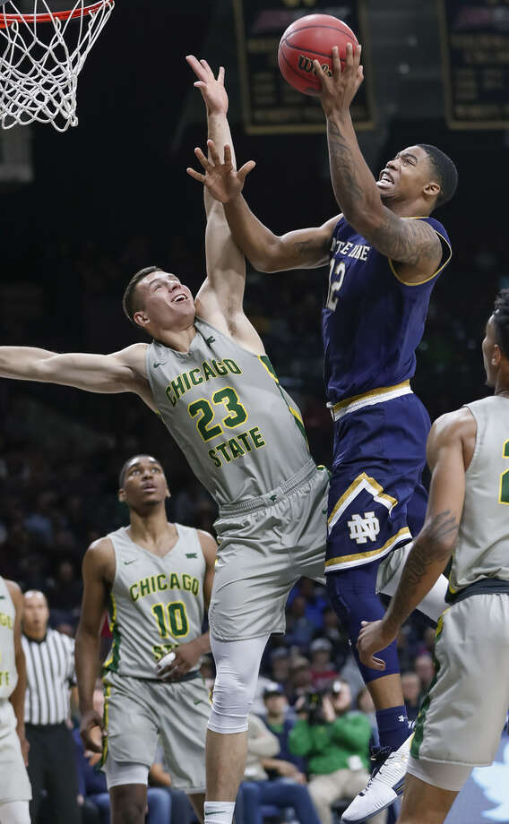 Troy native Elijah Burns scored a career-high 15 points in Notre Dame's win over Chicago State on Nov. 8. (Michael Hickey/Getty Images) Photo: Michael Hickey/Getty Images