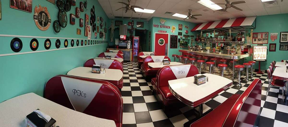 Pat's Kitchen, a 50s-themed diner in Laredo, is located at 5517 McPherson Road.