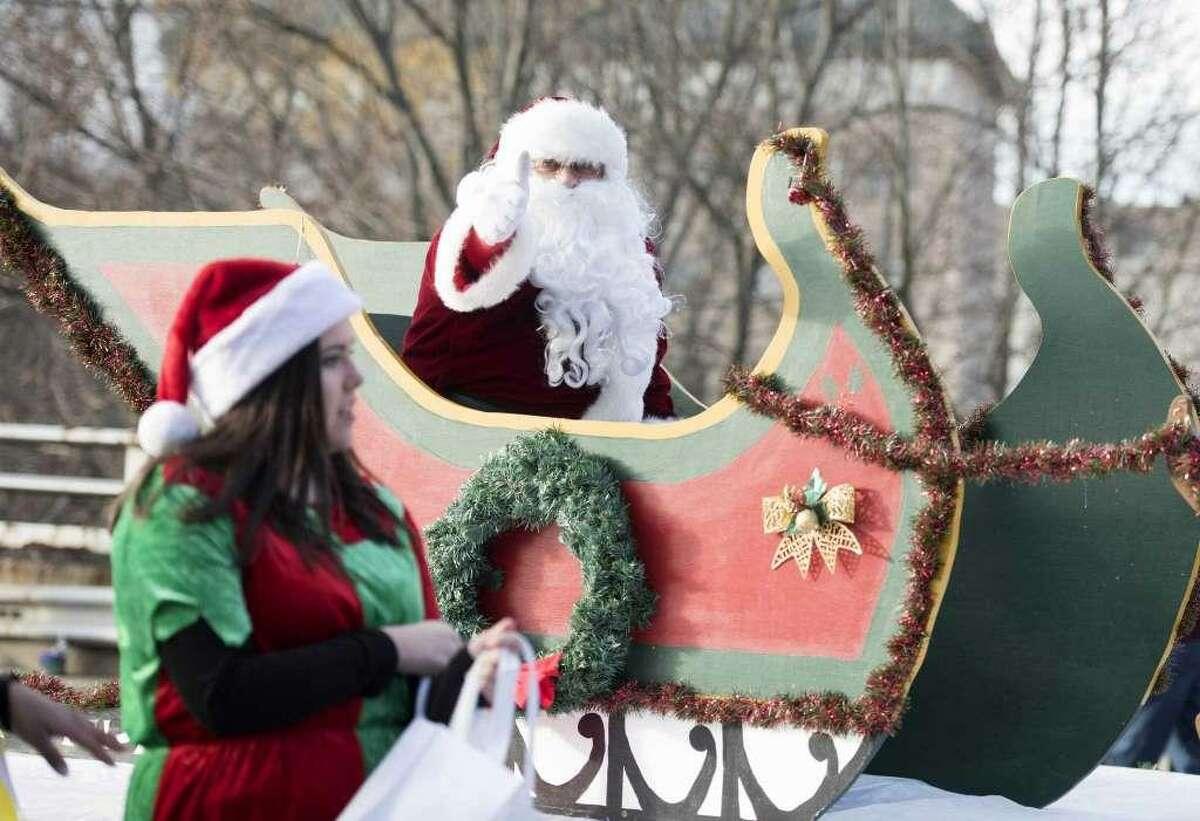 A scene from a previous Seymour Christmas parade