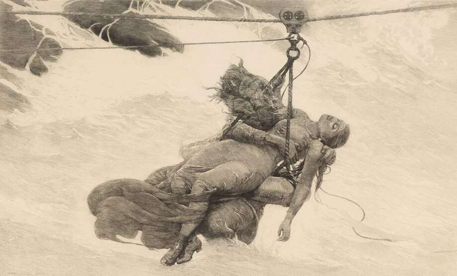 "Winslow Homer ""Saved"" 1889 (etching)"