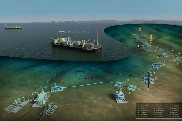 This graphic from offshore service company Allseas shows how Brazil's Rota 3 pipeline will move natural gas from an offshore platform to a city near Rio de Janiero.