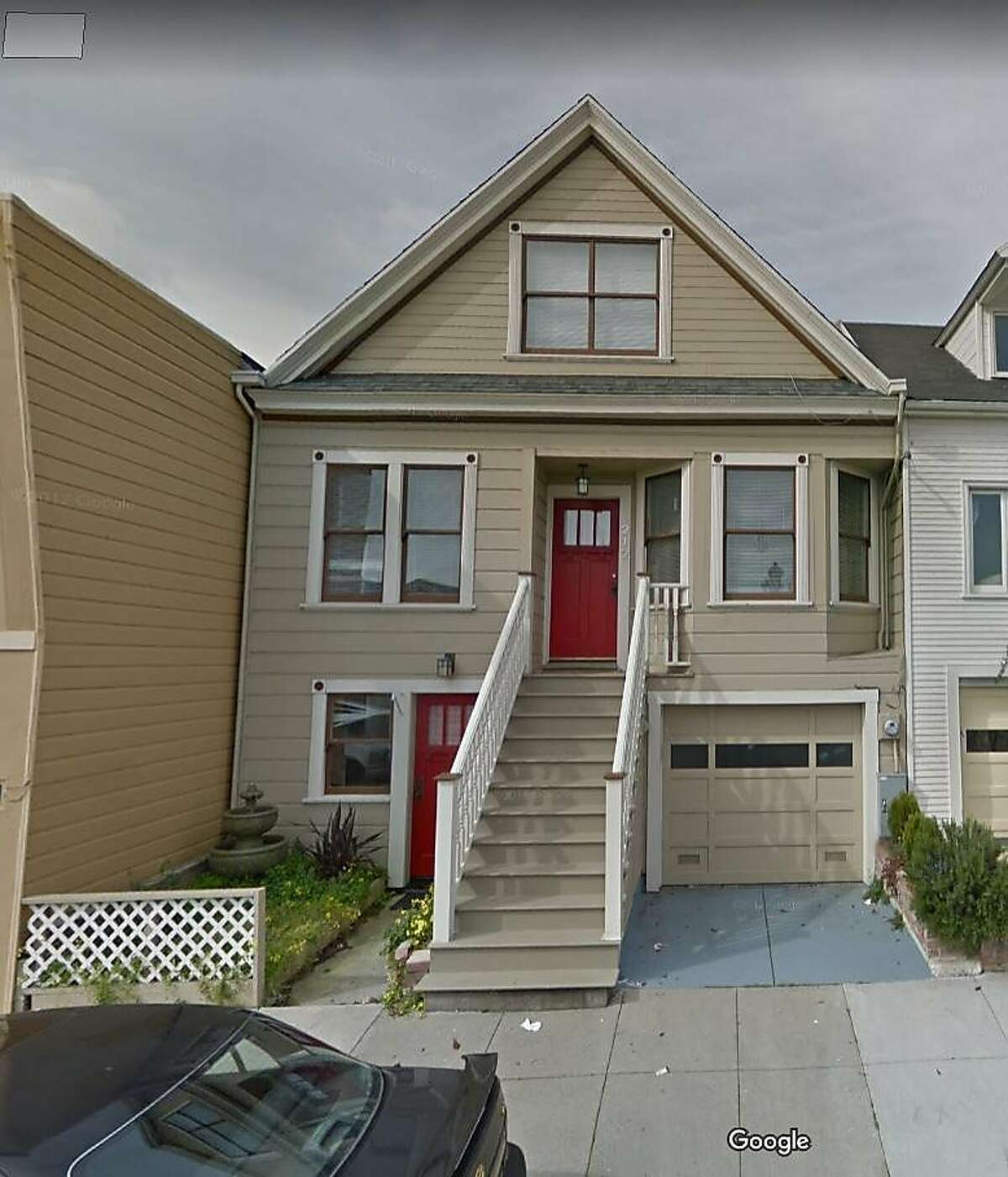 This home located at 212 Banks Street in San Francisco, Calif. is where a shootout occurred involving tenants who had rented the property through Air BnB. The home had been allegedly illegally converted to two rental units and were being rented out by the owners, who lived in Bali, Indonesia. The owners were fined $185,000 in civil penalties for the illegal conversion.