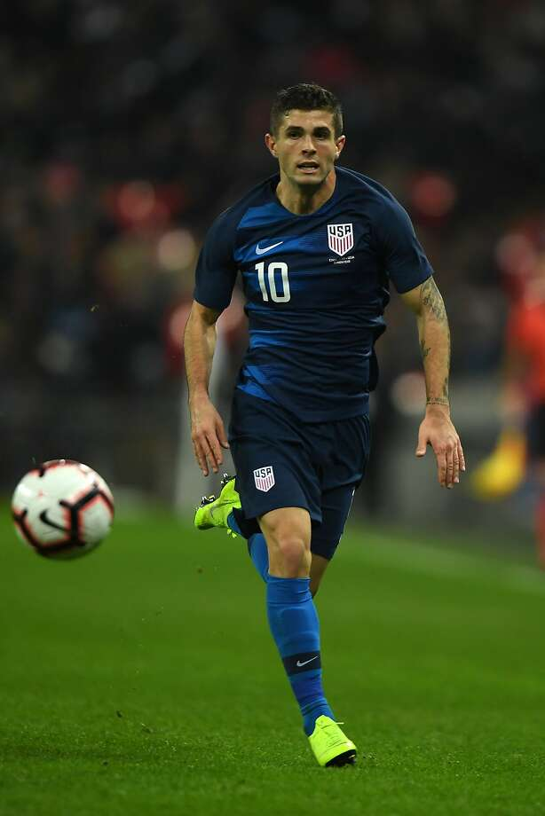 LONDON, ENGLAND - NOVEMBER 15: Christian Pulisic of USA in action during the International Friendly match between England and United States at Wembley Stadium on November 15, 2018 in London, United Kingdom. (Photo by Mike Hewitt/Getty Images) Photo: Mike Hewitt / Getty Images
