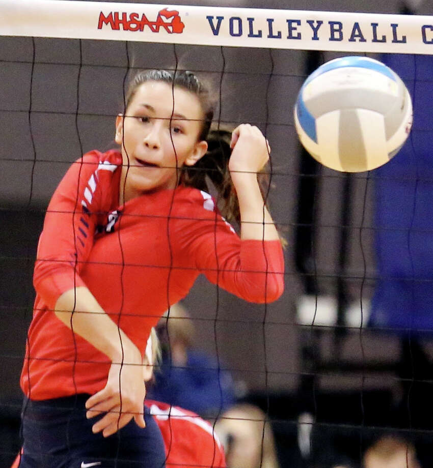 PLAYER OF THE YEAR RYLEE ZIMMER Team: USA Pos: Middle Hitter Class: Sr. No. 4 Photo: Tribune File Photo