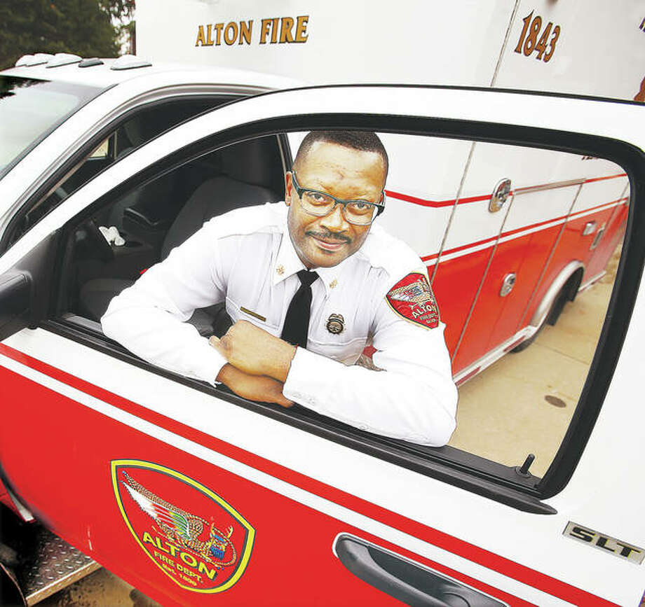 Alton Fire Department paramedic and former Capt. Jesse Jemison has been promoted to Deputy Alton Fire Chief. Jemison will fill the position left vacant by the retirement of Deputy Chief Mark Harris, but Jemison will have a special focus on the EMS program on the department. Photo: John Badman | The Telegraph