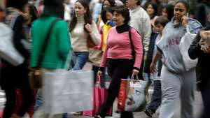 Black Friday, the busiest shopping day of the year, brought many out to San Francisco's Union Square area.