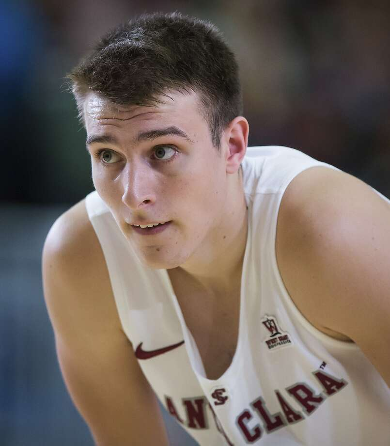 Santa Clara forward Josip Vrankic, of Toronto, looks on during the first half of an NCAA college basketball game against Minnesota, Tuesday, Nov. 20, 2018 in Vancouver, British Columbia. (Darryl Dyck/The Canadian Press via AP) Photo: DARRYL DYCK / Associated Press