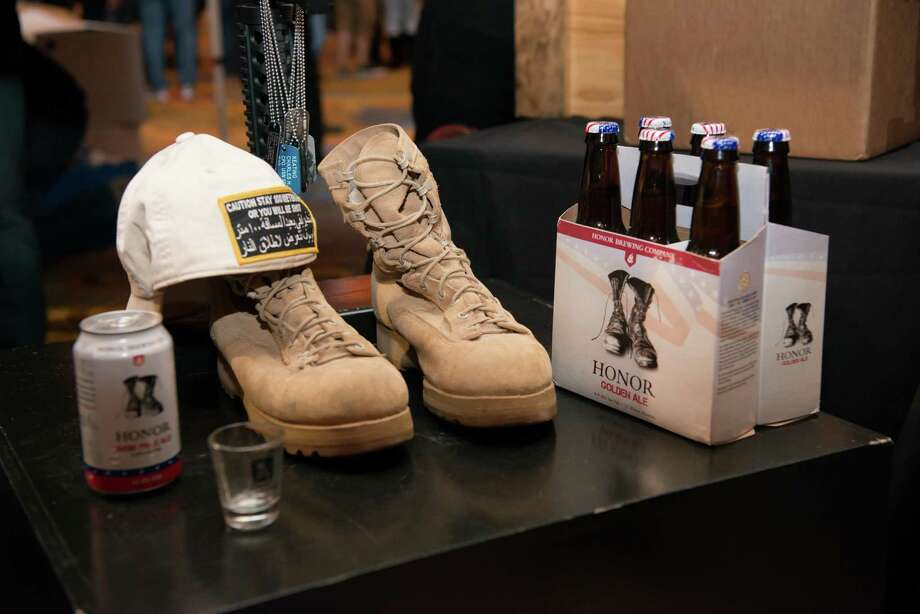 A display from Honor Brewing Co., which helps veterans, at last year's event. Photo: Foxwoods / Contributed Photo