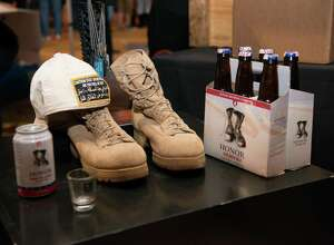 A display from Honor Brewing Co., which helps veterans, at last year's event.