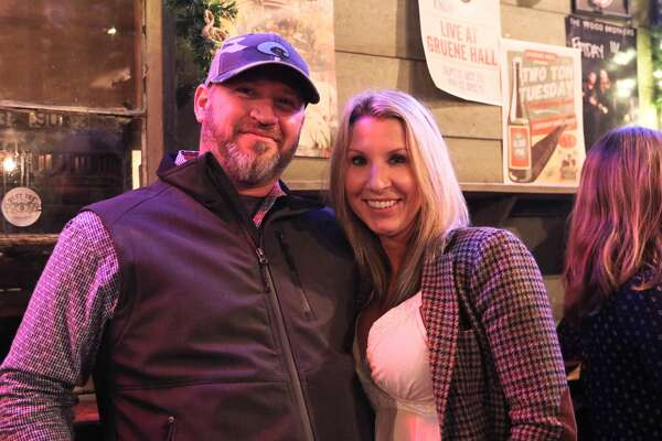 """San Antonio-based Two Tons of Steel took its """"signature brand of high-energy country meets raw punk"""" to Gruene Hall on Tuesday, Nov. 20, 2018, for a carefree Thanksgiving week show. The rockabilly and country band played a holiday edition of its Two Ton Tuesday series in the summer, according to Gruene Hall's website."""