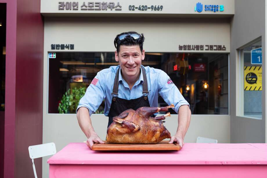 Texas native Ryan Phillips recently realized his dream of bringing American-style barbecue to Seoul, South Korea. Photo: Christopher K. Lewis