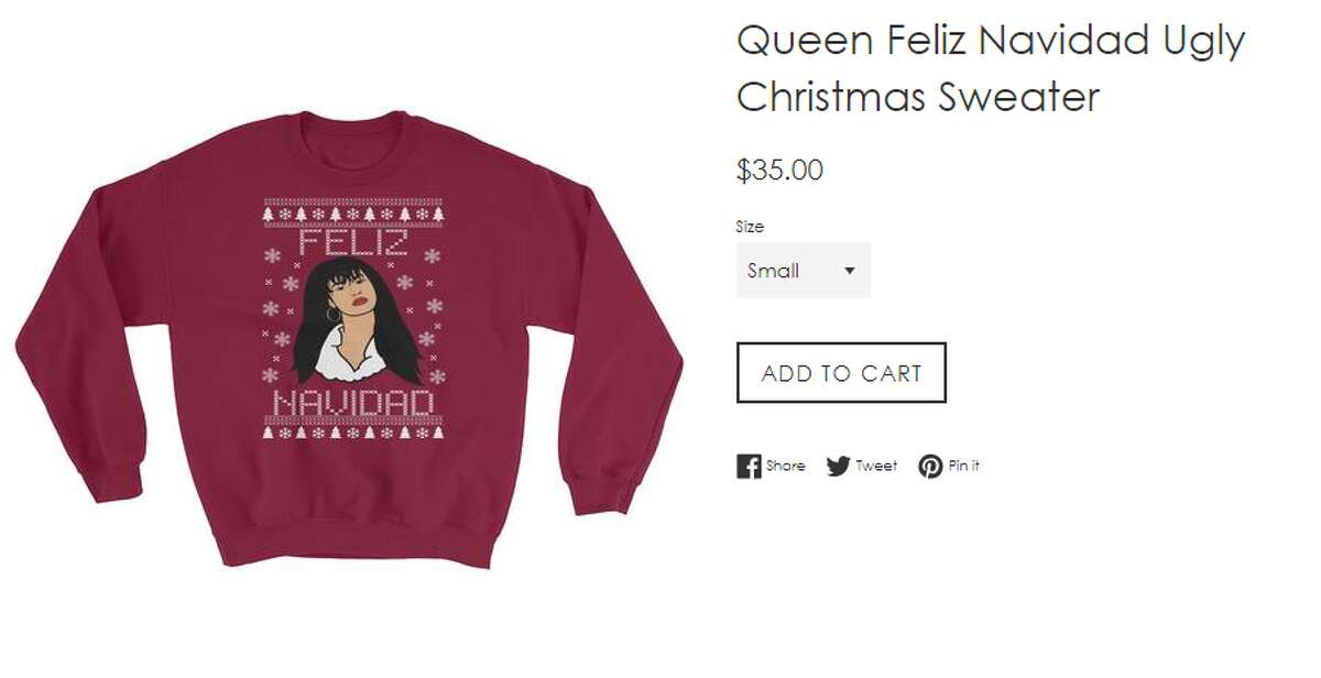 PHOTOS: Company offering Selena, Frida Khalo Christmas sweaters  California-based company Magic Mood Art is offering Selena and Frida Khalo sweaters for Christmas. The Selena sweater already sold out once. >>> See the sweater designs in the next few slides