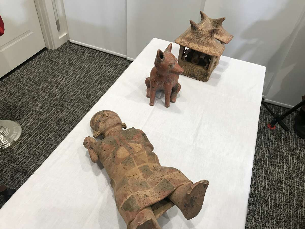 Nayarit hollow clay figures were recovered in November 2017 and returned to the Mexican government on Tuesday.