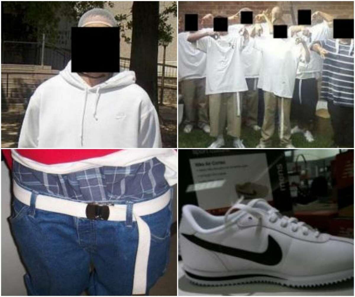 White clothing, long white belt Gang: La Primera