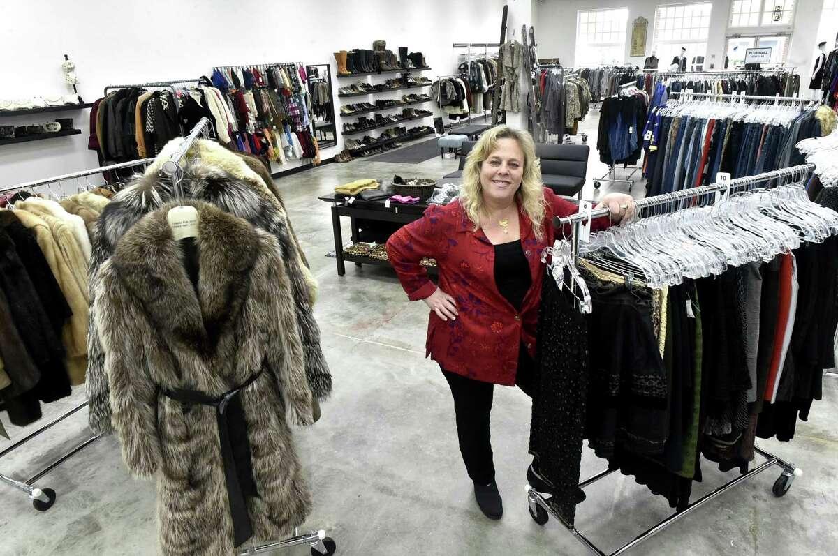 Rennee Mizrahi, owner of Renee's Resale Clothing Outlet in Orange on Nov. 12, 2018.