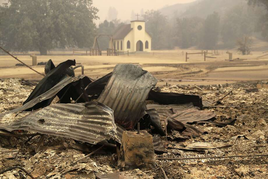 Paramount Ranch, used as a set in countless Western movies and shows, was decimated by the Woolsey Fire near Malibu. Photo: Marcio Jose Sanchez / Associated Press