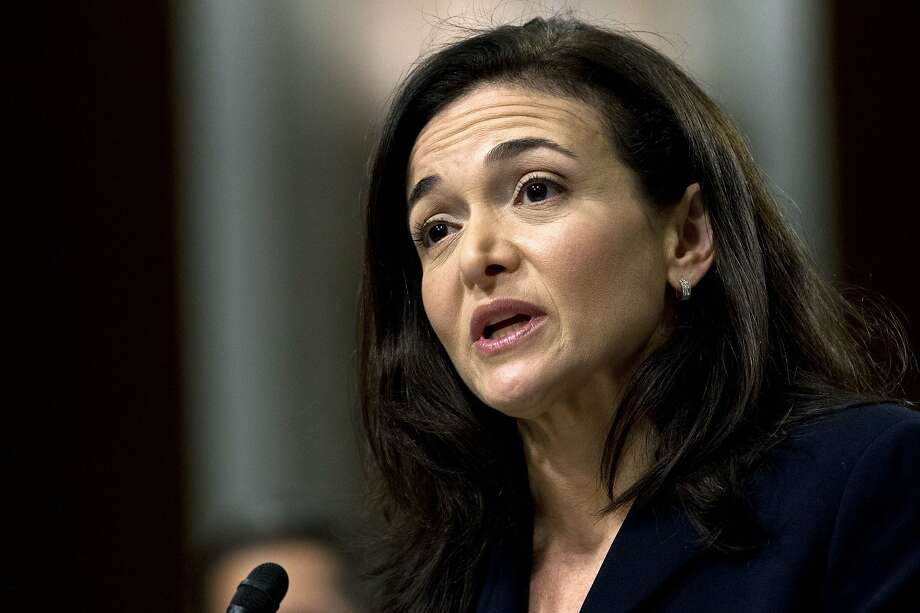 FILE- In this Sept. 5, 2018, file photo Facebook COO Sheryl Sandberg testifies before the Senate Intelligence Committee hearing on 'Foreign Influence Operations and Their Use of Social Media Platforms' on Capitol Hill in Washington. For the past decade, Sandberg has been the poised, reliable second-in-command to Facebook CEO Mark Zuckerberg, helping steer Facebook's rapid growth around the world, while also cultivating her brand in ways that hint at aspirations well beyond the social network. (AP Photo/Jose Luis Magana, File) Photo: Jose Luis Magana, Associated Press