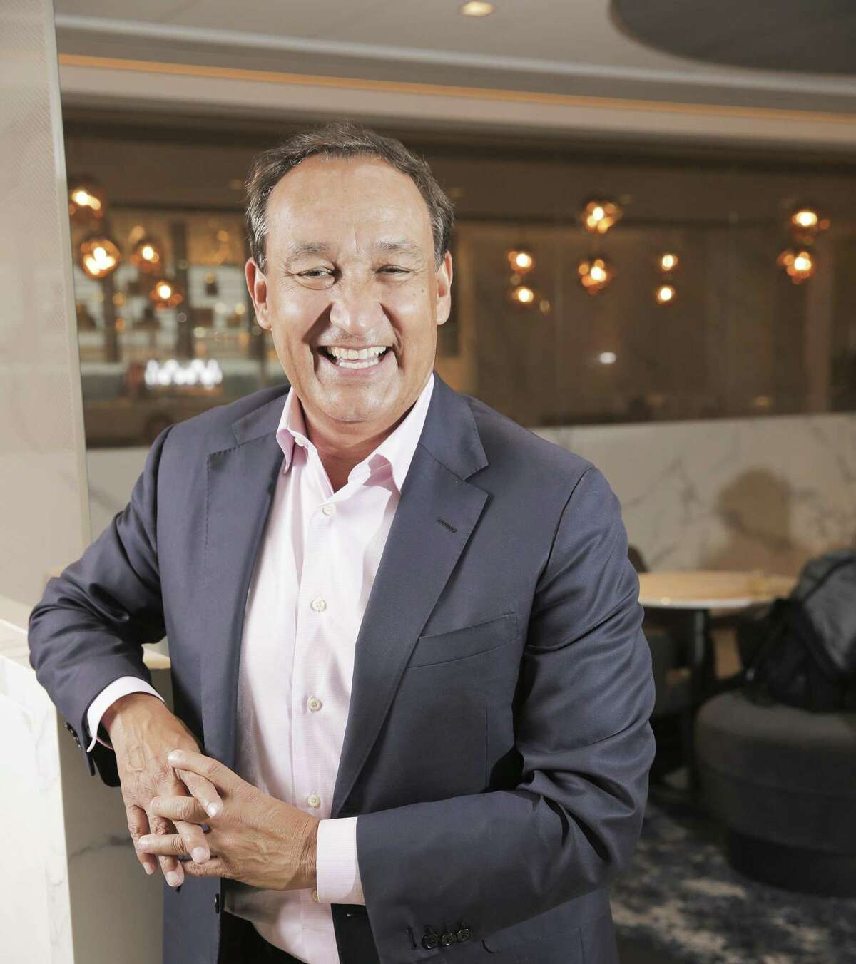 Oscar Munoz, CEO of United Airlines, at Bush Intercontinental Airport on Wednesday, Oct. 24, 2018 in Houston.