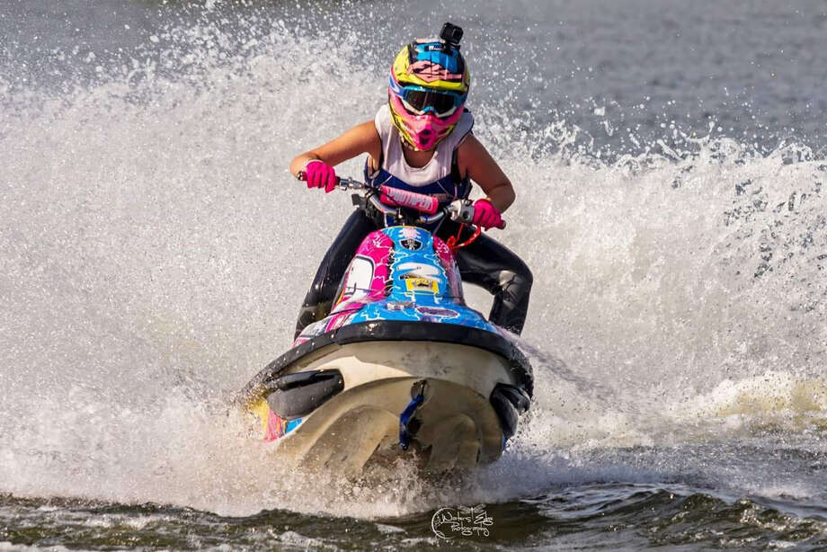 Rylee Grace O'Flaherty, 15, of Rotterdam, competing in the Pro Watercross World Championship in Naples, Florida. O'Flaherty captured the jet ski championship in the Novice Sport division in the championships, held Nov. 1-4, 2018. (Photo courtesy Jessica Waters Photography) Photo: Jessica Waters Photography, Provided
