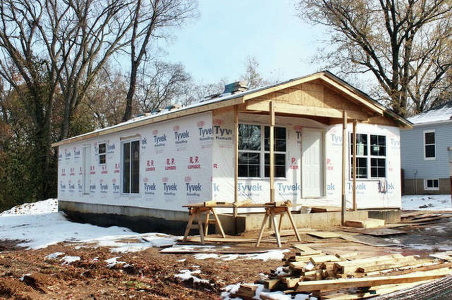 The Habitat for Humanity house located at 920 Klein Ave. in Edwardsville has been recently enclosed, to allow interior work to continue all winter. Volunteers are needed each Saturday, starting at 8 a.m., except the Thanksgiving and Christmas holiday weekends. To learn about work to be done, contact Todd Taplin at todd@taplindefensefirm.com. Photo: For The Intelligencer