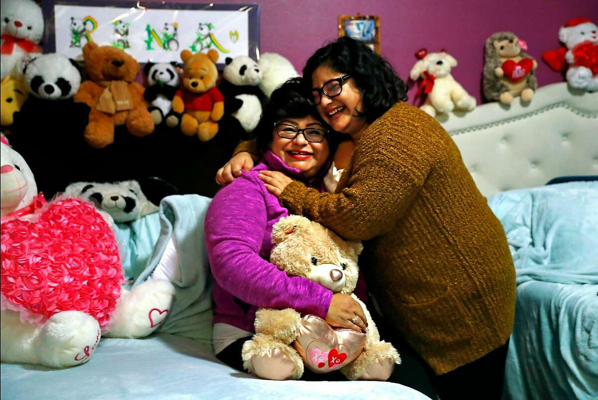 Dora Castillo (left) and her daughter, Rina, at their residence in San Francisco, Calif. on Tuesday, November 20, 2018.