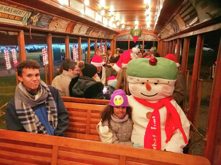 """The Connecticut Trolley Museum's Winterfest and the """"Tunnel of Lights"""" is celebrating its 40th operating year as a family holiday tradition. Photo: Connecticut Trolley Museum / Contributed Photo"""