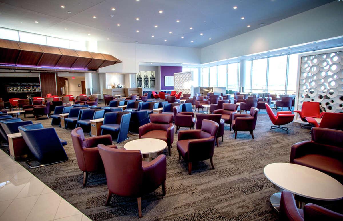 Delta's Sky Club at Atlanta's B Concourse.