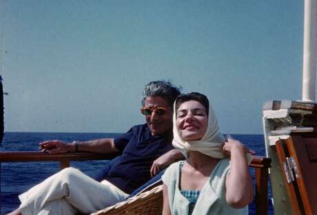 "Aristotle Onassis with Maria Callas, from the documentary ""Maria by Callas."""
